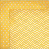 "Bo Bunny  Pattern Paper, 12""x12"",  Double Dot Designs, Maize Chevron, Scrapify, Australia"