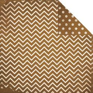 "Bo Bunny  Pattern Paper, 12""x12"",  Double Dot Designs, Decaf Chevron, Scrapify, Australia"