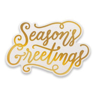 COUTURE CREATIONS, GoPress and Foil,  Hotfoil, Cut, Foil and Emboss, Season's Greetings, 80 x 50 mm, CO726930, Scrapify, Australia