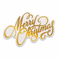 COUTURE CREATIONS, GoPress and Foil,  Hotfoil, Cut, Foil and Emboss, Merry Christmas, 90 x 55 mm, CO726932, Scrapify, Australia