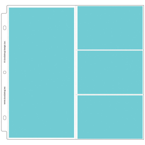 """Doodlebug Page Protectors, Photo Sleeves, 12""""x12"""", 25 Pack Each With 1x 6""""x12"""" and 3x 4""""x6"""", Scrapify, Australia"""