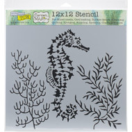 "The Crafter's Workshop Stencils 12""x12"" - Seahorse, TCW918, Scrapify, Australia"