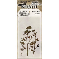 Tim Holtz Stampers Anonymous - Layering Stencils - Wildflower (THS035), Scrapify, Australia