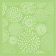 Kaisercraft, Designer Template, 6 x 6in, Fire Works, IT500, Scrapify, Australia