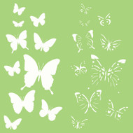 Kaisercraft, Designer Template, 6 x 6in, Butterflies, IT505, Layering Stencil, Scrapify, Australia