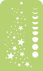 Kaisercraft, Mini Designer Template, 6 x 3.5in, Stars and Moon, IT032, Scrapify, Australia