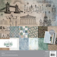 "Kaisercraft  Paper Pack 12""x12"" + Bonus Sticker Sheet,  Explorer, PK623, Scrapify, Australia"