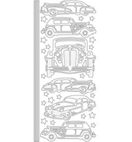 Couture Creations, Peel Offs,  Gold Stickers, Antique Cars, AD352200, Scrapify, Australia