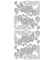 Couture Creations, Peel Offs,  Gold Stickers, Floral Corners, AD12190, Scrapify, Australia