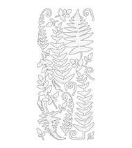 Couture Creations, Peel Offs,  Gold Stickers, Ferns, AD260500, Scrapify, Australia