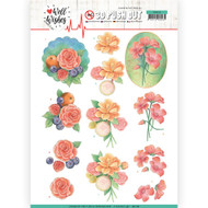Couture Creations, 3D Die-Cut Decoupage,  Paper Tole, Well Wishes Collection, A4 Sheet, SB10428, Scrapify, Australia