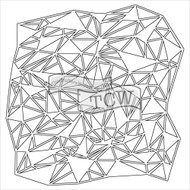 "The Crafter's Workshop Stencils 6""x6"" - Mini Shattered Triangles"