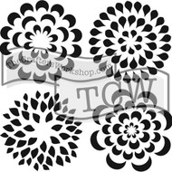 "The Crafter's Workshop Stencils 12""x12"" - Mums, TCW173, Scrapify, Australia"