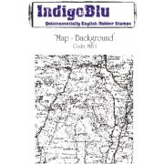 IndigoBlu Cling Stamps - Map Background Stamp, Scrapify, Australia