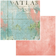 49 and Market, Pattern Papers, Vintage Artistry Anywhere - Atlas , Scrapify, Australia