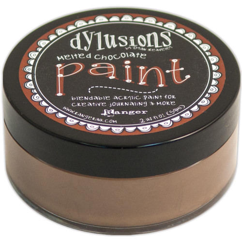 Dylusions Paint 2oz - Melted Chocolate, Scrapify, Australia