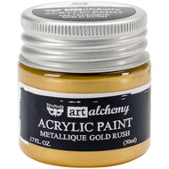 Prima Finnabair Art Alchemy Acrylic Paint - Metallique Gold Rush, Scrapify, Australia