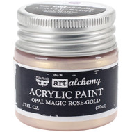 Prima Finnabair Art Alchemy Acrylic Paint - Opal Magic Rose-Gold, Scrapify, Australia
