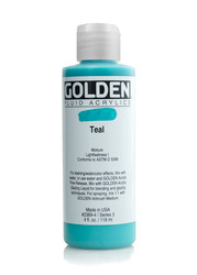 Golden, Fluid Acrylic, Artist Paints,Teal, 4 fl oz, 118mls, #2369-4, Scrapify, Australia