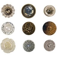 "Tim Holtz, Idea-ology Accoutrements Buttons .625"" To 1"",  9/Pkg, Scrapify, Australia"