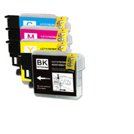 4-Pack Compatible Ink for Brother LC61
