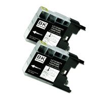 2-Pack BLACK Compatible Ink for Brother LC75BK