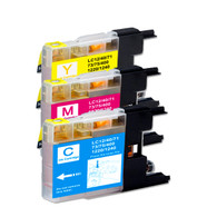 3-Pack COLOR Compatible Ink for Brother LC75