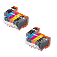 12-Pack Compatible Ink w/ Grey for Canon PGI-220/CLI-221