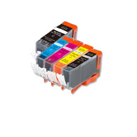 5-Pack Compatible Ink w/ Chip for Canon PGI-220/CLI-221