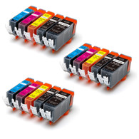 15-Pack Compatible Ink w/ Chip for Canon PGI-225/CLI-226