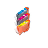3-Pack COLOR CMY Compatible Ink w/ Chip for Canon CLI-226