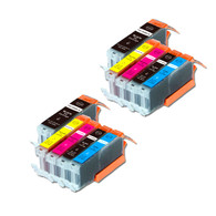 10-Pack Compatible Ink w/ Chip for Canon PGI-250XL / CLI-251XL