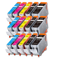 15-Pack Canon CLI-8/PGI-5 Compatible Ink w/ chip