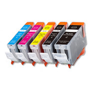 5-Pack Canon CLI-8/PGI-5 Compatible Ink w/ chip