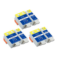 6-Pack (3 Black 3 Color) Ink Cartridges for Kodak No. 30XL