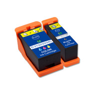 2-Pack Compatible Ink Cartridges for Dell Series 21