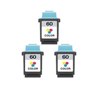 3-Pack Lexmark #60 Color Ink Cartridge - Remanufactured