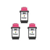 3-Pack Lexmark #80 Color Ink Cartridge - Remanufactured