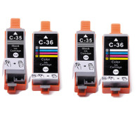 4-Pack Compatible Ink for Canon PGI-35 / CLI-36