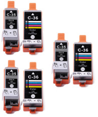 6-Pack Compatible Ink for Canon PGI-35 / CLI-36