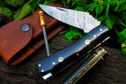 "DKC-34 OFFICER 8"" Long 4.5""Folded 5.7 oz Pocket Folding Damascus Knife DKC Knives ™Hand Made Incredible Look Feel"