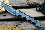 "DKC-80-D TITAN Damascus  Hunting Handmade Knife Fixed Blade 14.9 oz 9.5 """