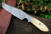 "DKC-514 TRAIL MASTER Damascus Hunting Handmade Knife Fixed Blade 7.5 oz 9"" Long"