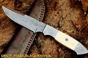 "DKC-519 UNICORN Damascus Hunting Handmade Knife Fixed Blade 9.3 oz 9"" Long"