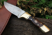 "DKC-523-DS GOLD FINCH Damascus   Bowie Hunting Handmade Knife Fixed Blade 9.3oz oz 3.5"" Blade 8 ""Long"