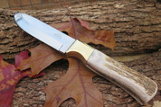 DKC-724-440c STAG PRINCE Stainless Steel Stag Horn Hunting Handmade Knife Fixed Blade