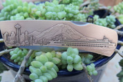 DKC-1203-B Seattle Knife Custom Minted Engraved Antique Brass