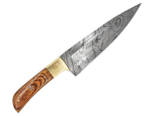 "DKC-1004 SIERRA CHEF Knife Damascus Steel Blade 8 "" Blade 13"" Overall 11.5 oz"