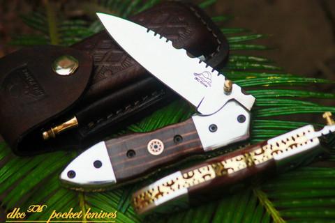 "DKC-59-440c DARTMOUTH Stainless Steel 440c Folding Pocket Knife 4.5"" Folded 7.5"" Long 7.7oz oz"