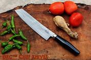 "DKC-534 MUSAKA CHEF Knife Damascus Blade 7"" Blade 11.75"" Overall 7.4 oz"
